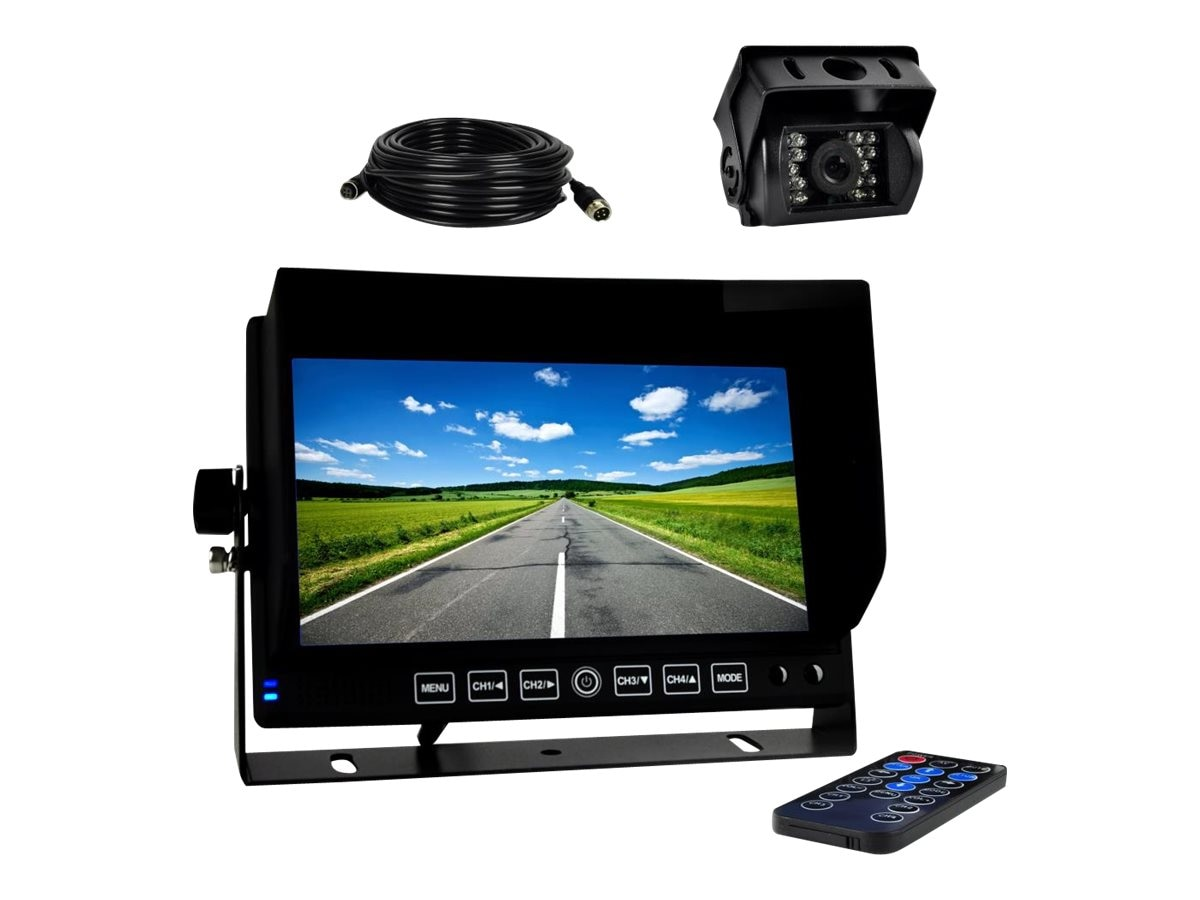 Pyle DVR Video Camera HD Recording Driving System 7 Display Monitor