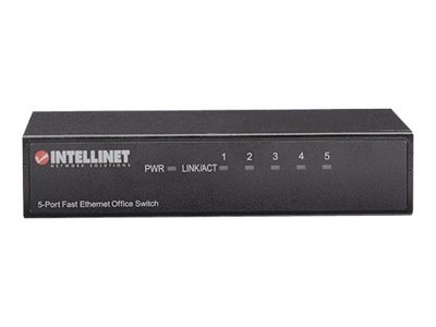 Intellinet 5-Port Fast Ethernet Office Switch, 523301