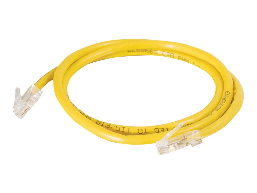 C2G Cat5e Non-Booted Unshielded (UTP) Network Patch Cable - Yellow, 3ft