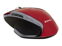 Verbatim Wireless Notebook 6-Button Deluxe Blue LED Mouse, Red, 99018, 27415661, Mice & Cursor Control Devices