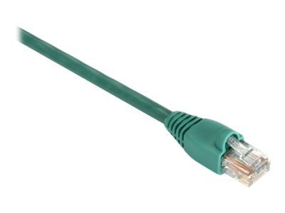 Black Box GigaBase 350MHz CAT5E Snagless Booted Patch Cable, Green, 1ft