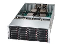 Supermicro SuperServer 8047R 4U RM Xeon E5-4600 Family Max.768GB DDR3 24x3.5 HS Bays 8xPCIe 2x10GbE 1620W RPS