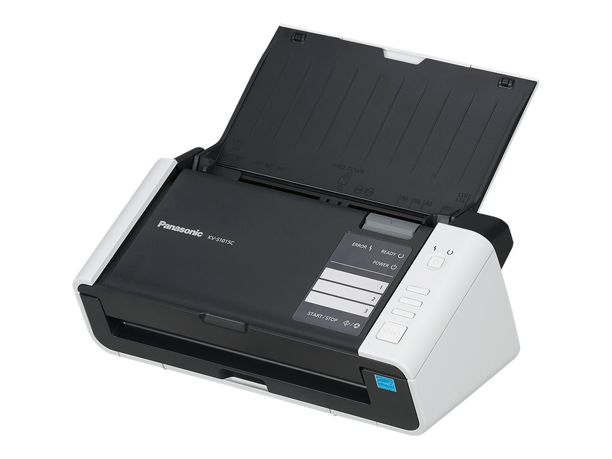 Panasonic Scanner Color Binary 20ppm 40ipm 200dpi USB 2.0 ISIS Certified w  3-year NEAT Subscription, KV-S1015C-3N, 28505511, Scanners
