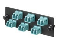 Panduit 12-port LC Duplex Fiber Patch Panel, Aqua