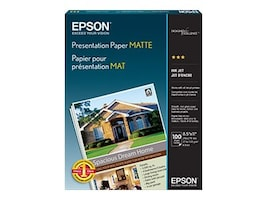 Epson 8.5 x 11 Presentation Paper Matte (100 Sheets), S041062, 25066, Paper, Labels & Other Print Media