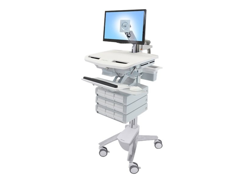 Ergotron StyleView Cart with LCD Arm, 9 Drawers, SV43-1290-0, 18024625, Computer Carts - Medical