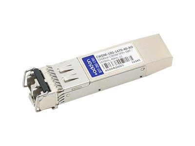 ACP-EP 10GBASE-ER CWDM LC SFP+ 1470NM 40KM for Cisco, CWDM-10G-1470-40-AO, 14858446, Network Transceivers