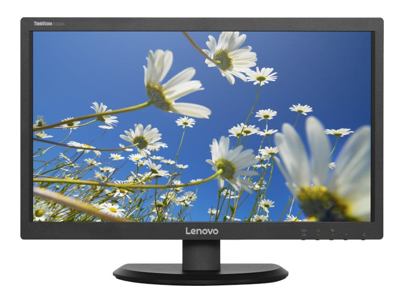 Lenovo 21.5 E2224 Full HD LED-LCD ThinkVision Monitor, Black, 60DAHAR1US, 30935835, Monitors - LED-LCD
