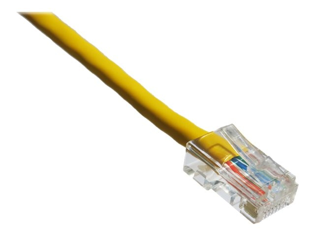 Axiom CAT6 550MHz UTP Bootless Patch Cable, Yellow, 25ft, TAA