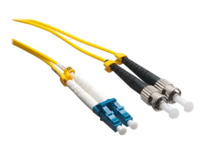 Axiom LC-ST 9 125 OS2 Singlemode Duplex Cable, Yellow, 0.5m, LCSTSD9Y-05M-AX