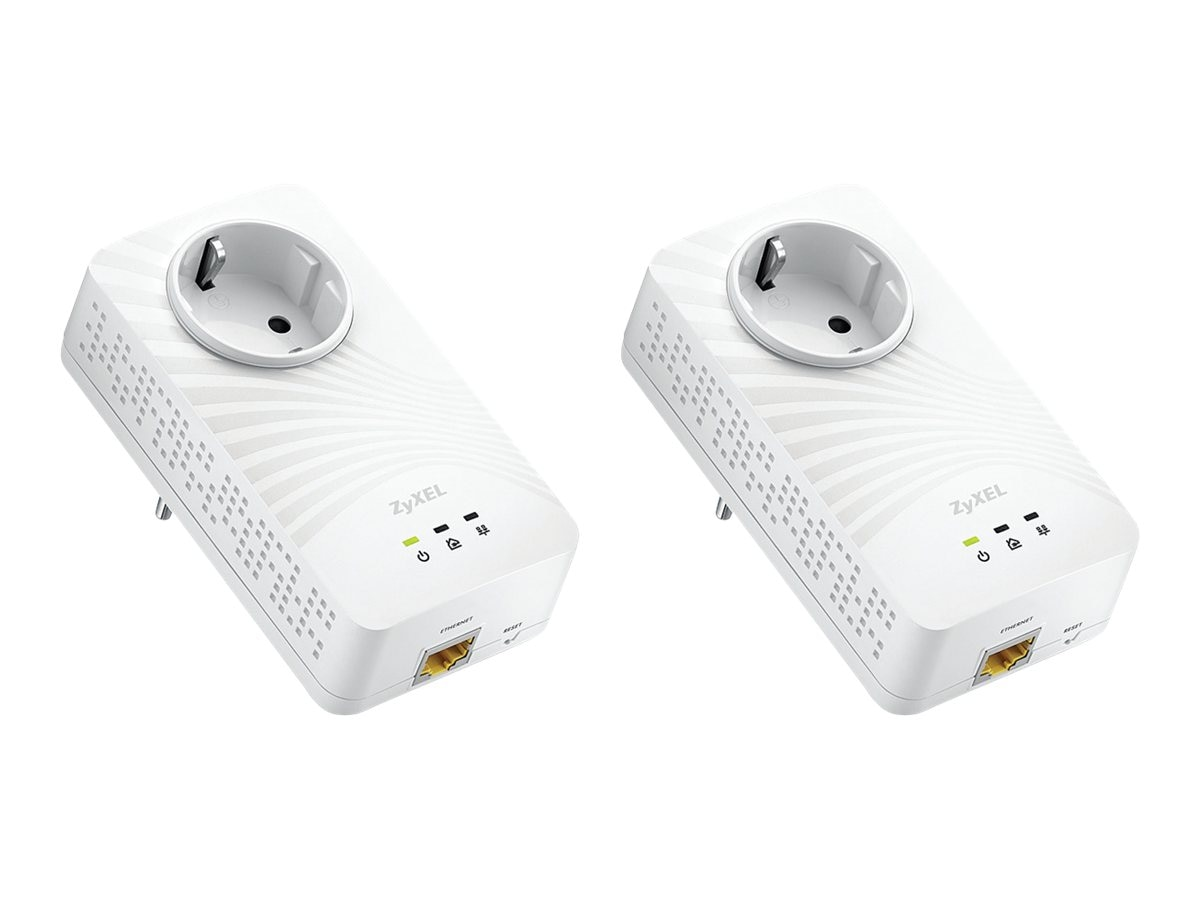 Zyxel PLA5215Kit Powerline 600MBPS Passthrough Homeplug AV2 Kit