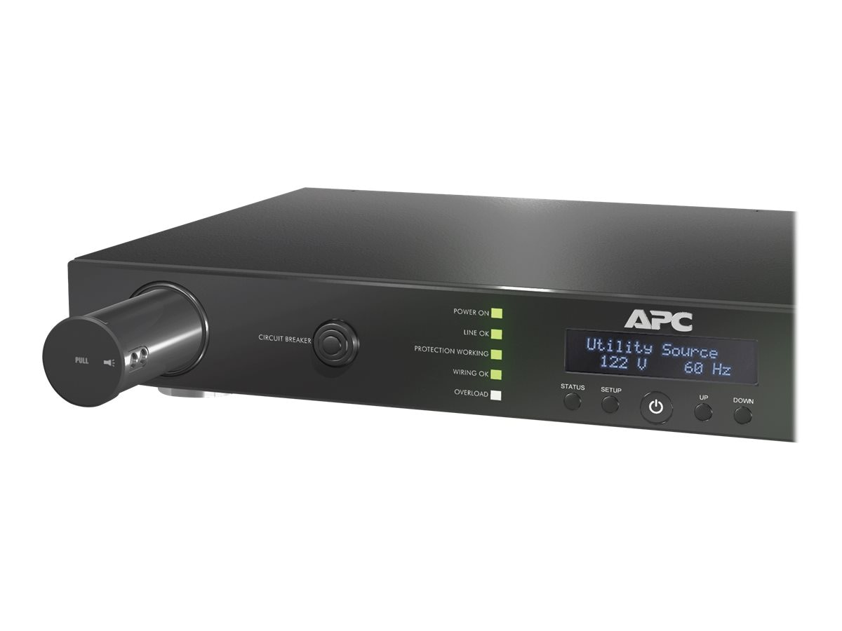 APC AV 20 Amp G-Type 1U Rack Power Filter, 120V, 5-20P Input, (9) 5-20R Outlets, 3400 Joules, G50B-20A2