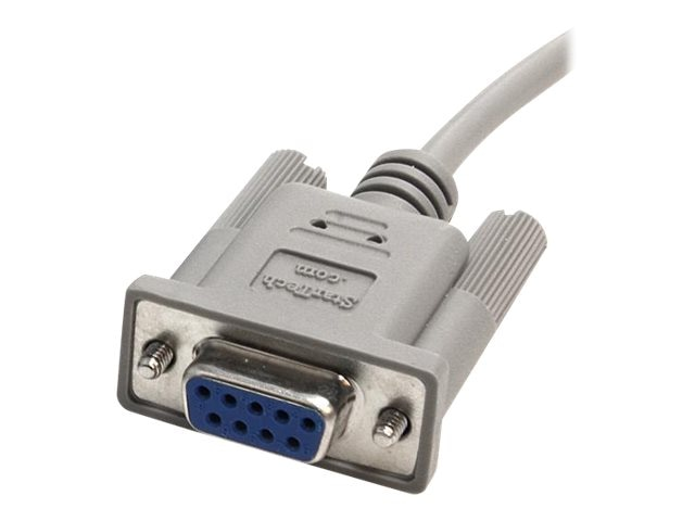 StarTech.com Cross Wired   Serial Null Modem Cable DB9 F F, 10ft, SCNM9FF