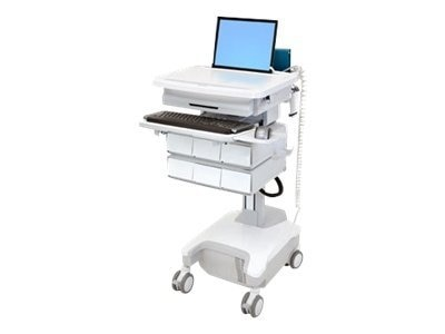Ergotron StyleView PHD Laptop Cart, 6 Drawers, Powered, SV32-81126, 12331202, Computer Carts - Medical
