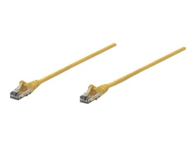 Intellinet CAT6 PVC UTP Snagless Patch Cable, Yellow, 25ft