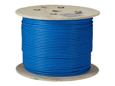 Black Box CAT6Q 650MHz F UTP Solid Bulk Cable, Blue, 1000ft