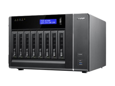 Qnap TVS-EC880 8-Bay 6G 4LAN 10G Ready NAS - 16GB Version, TVS-EC880-E3-16G-US