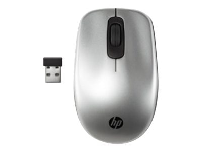 HP Z3600 Silver Wireless Mouse w  Red, Blue Covers