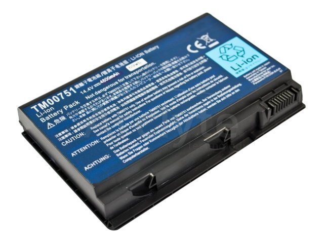 Arclyte Battery Performance-Lithium Li-Ion 14.8V 5200mAh 8-cell for Acer Extensa, TravelMate, N00464, 16204391, Batteries - Notebook