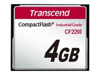 Transcend 4GB CF220I CompactFlash Memory Card, TS4GCF220I, 31432851, Memory - Flash