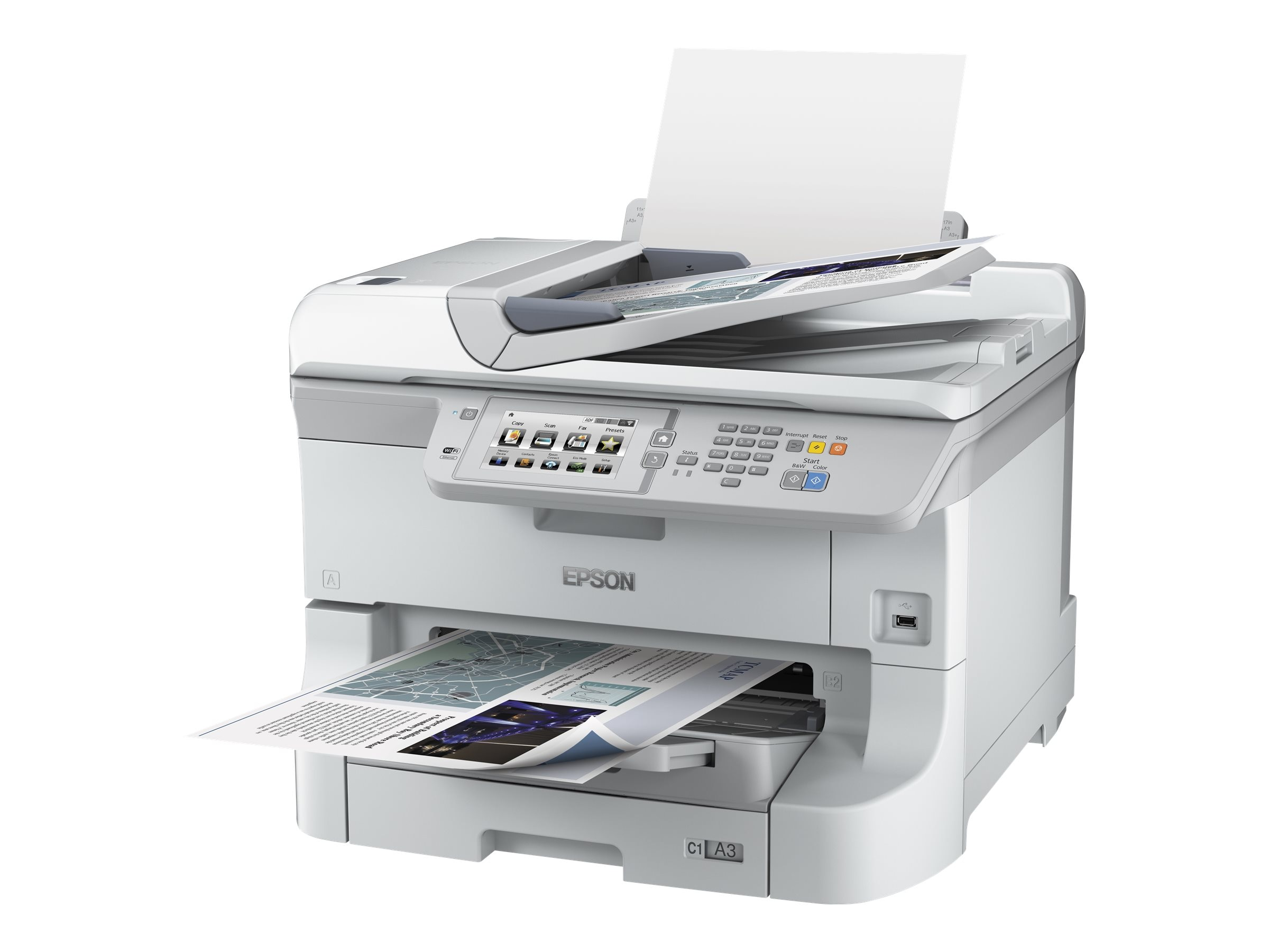 Epson WorkForce Pro WF-8590 Network Multifunction Color Printer, C11CD45201, 30730611, MultiFunction - Ink-Jet
