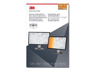 3M Gold Privacy Filter for 23 16:9 Widescreen Laptop, GF230W9B