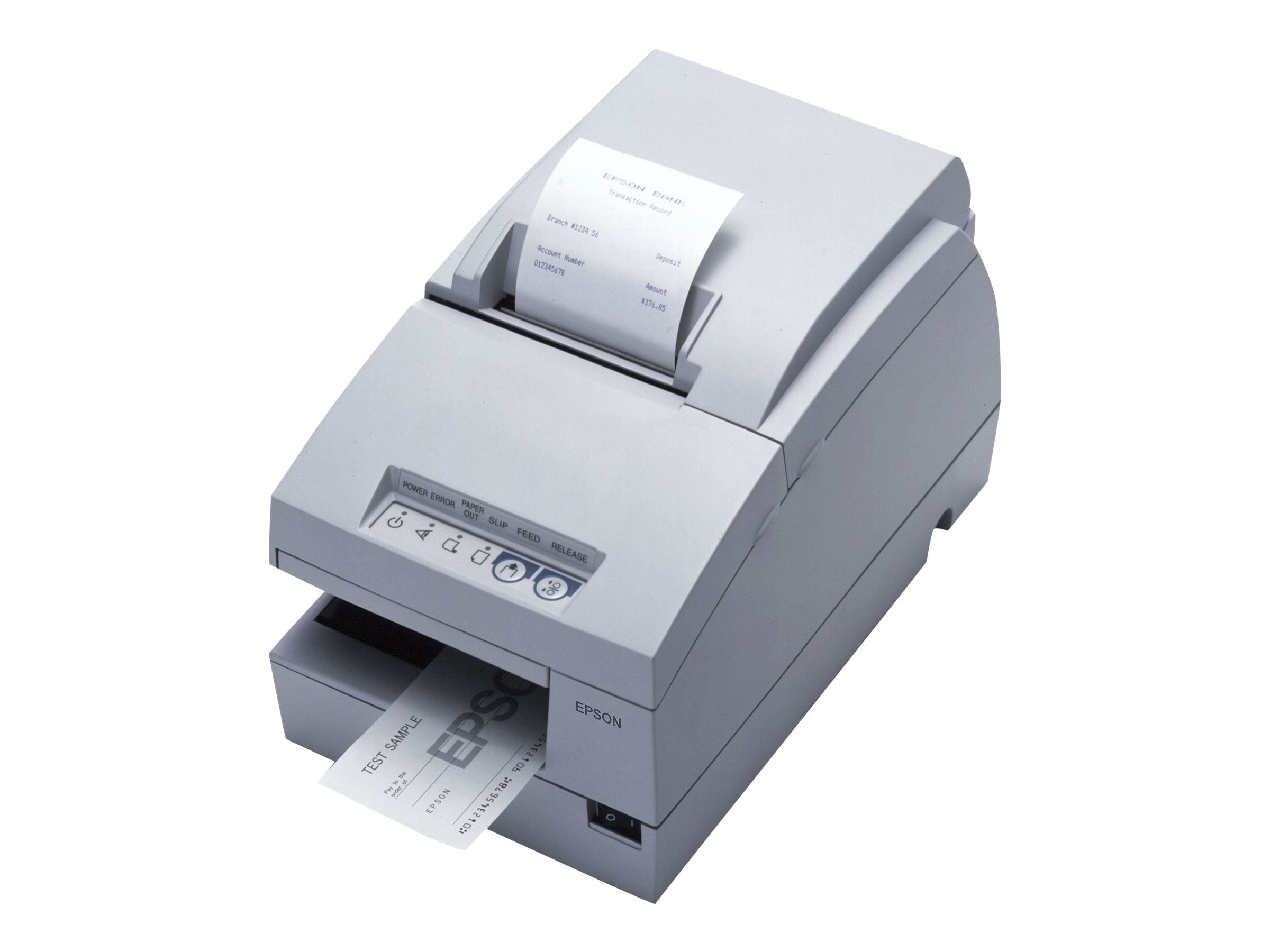 Epson TM-U675 Multifunction Receipt-Slip-Validation Printer, C31C283012, 7004362, Printers - POS Receipt
