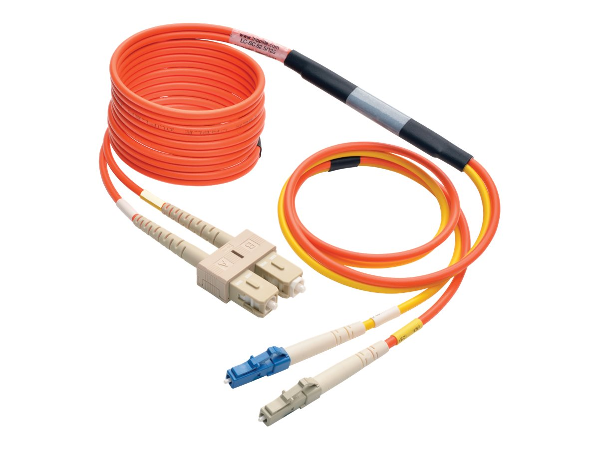 Tripp Lite Fiber Optic Mode Conditioning Patch Cable, LC-SC, 3m, N425-03M, 24631376, Cables
