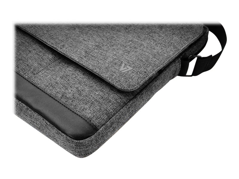 V7 Vertical Messenger Bag for iPad Air, Tablets PC FP to 10.1, Gray, TD31GRY-1N