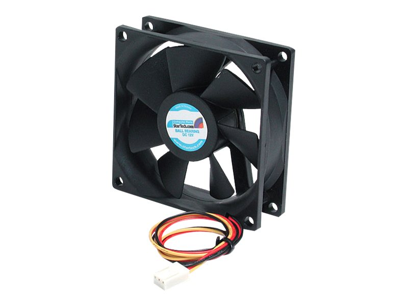 StarTech.com CPU Case Ball Bearing Cooling Fan Motor, 8x2.5cm with TX3 Connectors, FAN8X25TX3L, 242796, Cooling Systems/Fans