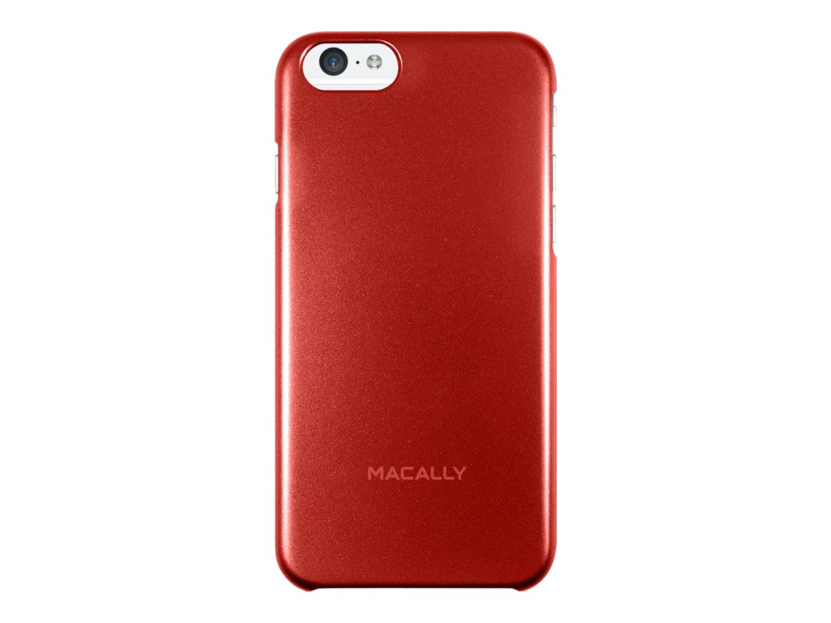 Macally Snap-On Plastic Polycarbonate Case for iPhone 6, Red, SNAPP6MR, 31202035, Carrying Cases - Phones/PDAs
