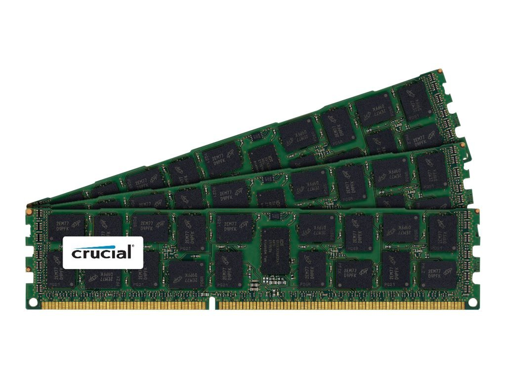 Crucial 48GB PC3-12800 240-pin DDR3 SDRAM DIMM Kit, CT3K16G3ERSLD4160B, 16401301, Memory