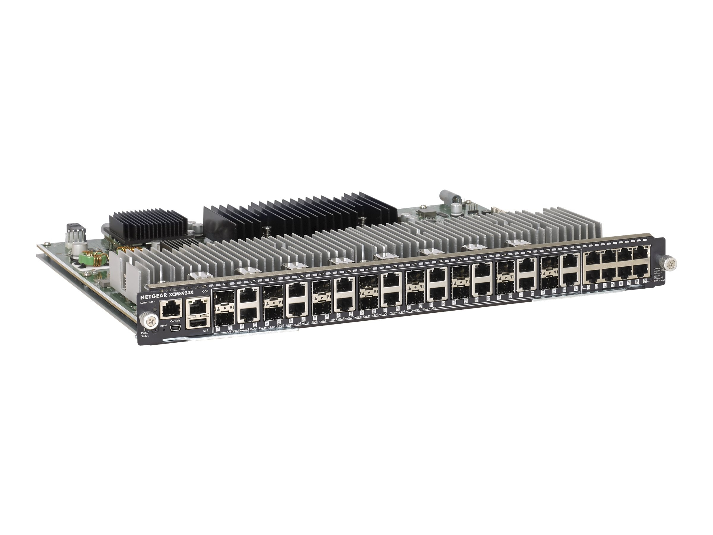 Netgear M6100 Chassis Series 24x10GBASE-T and 16 Shared SFP+ Blade, XCM8924X-10000S, 18366107, Network Switches