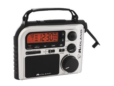Midland Radio Emergency Crank Radio w  AM FM Weather, ER-102, 15559376, Two-Way Radios