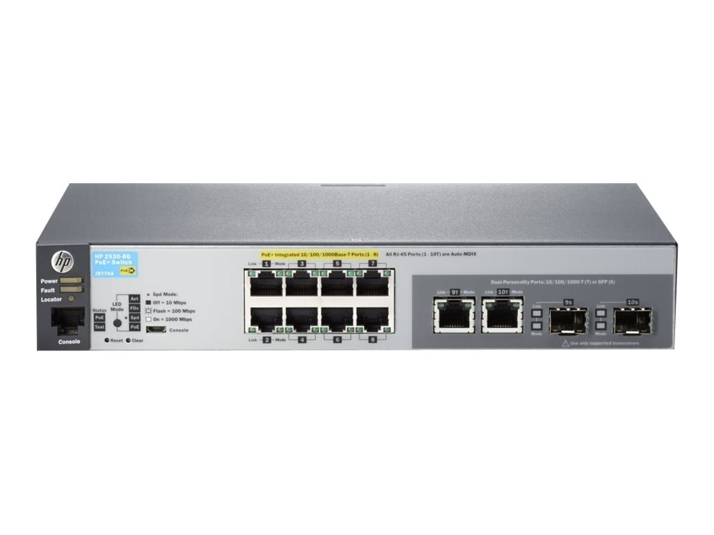 HPE 2530-8G-POE+ Switch, J9774A#ABA