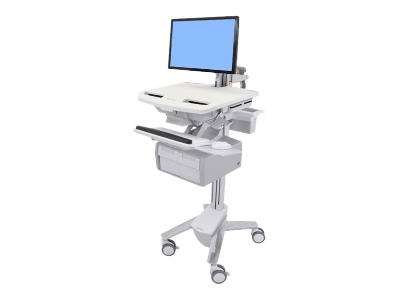 Ergotron StyleView Cart with LCD Arm, 2 Tall Drawers, SV43-12C0-0