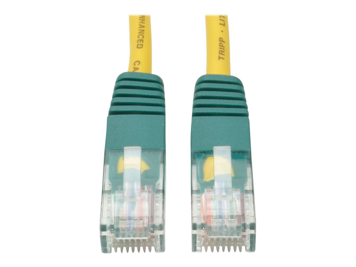 Tripp Lite Cat5e RJ-45 M M Molded Cross-over Patch Cable, Yellow, 10ft