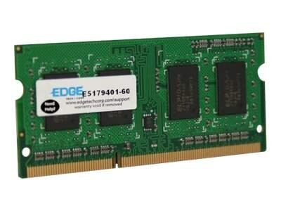Edge 8GB PC3-10600 204-pin DDR3 SDRAM SODIMM for Select Models, PE229344, 18381770, Memory