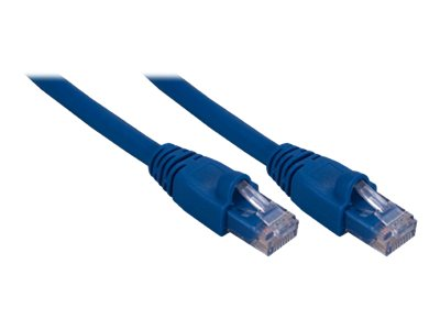QVS Cat6a Gigabit Patch Cable, Blue, 25ft