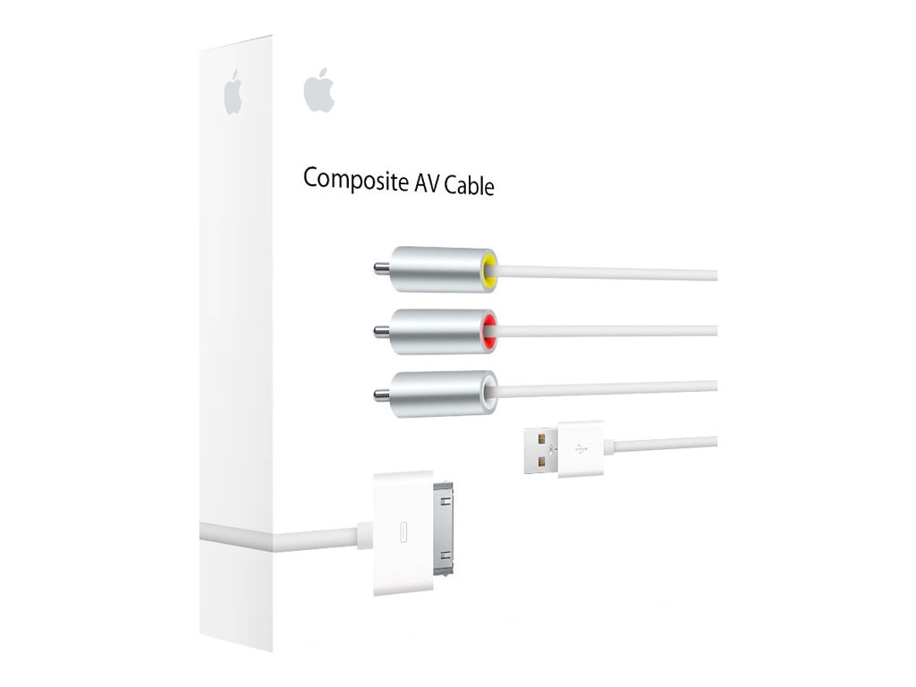 Apple Composite AV Cable (30-pin Dock Connector), MC748ZM/A