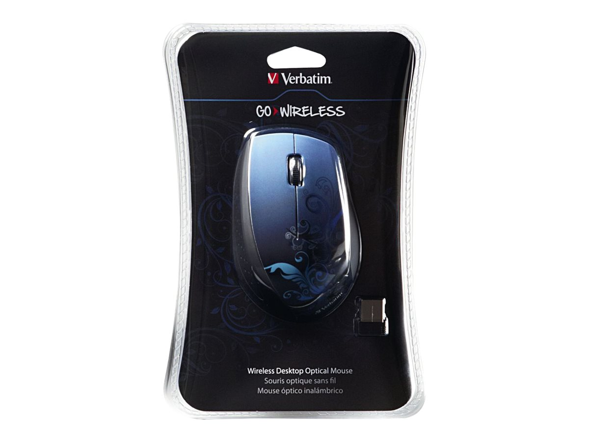 Verbatim Wireless Optical Mouse, Nano Receiver, Blue