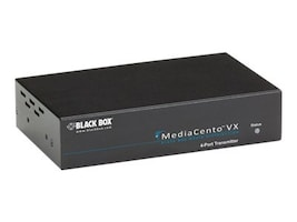 Black Box MediaCento VX 4-Port Transmitter, AVX-VGA-TP-TX-4, 31445344, Video Extenders & Splitters