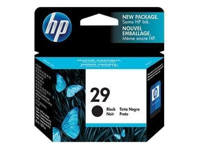 HP 29 (51629A) Black Original Ink Cartridge, 51629A, 21471, Ink Cartridges & Ink Refill Kits