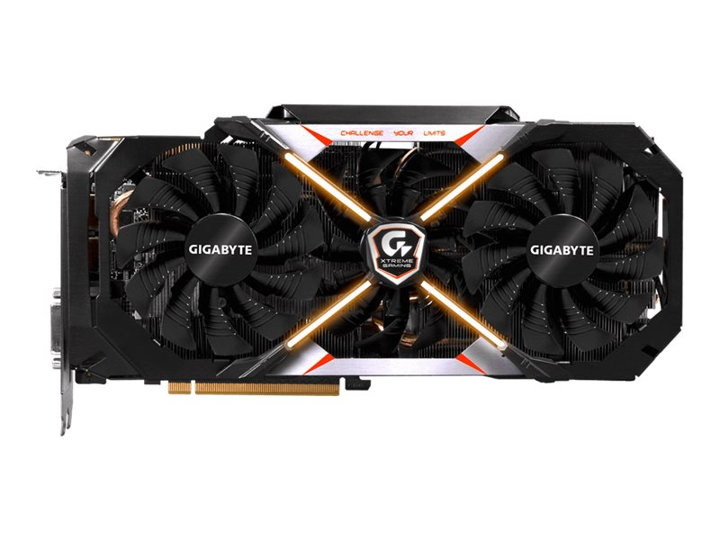 Gigabyte Tech Geforce GTX1080 PCIe 3.0 x16 Graphics Card, 8GB GDDR5X