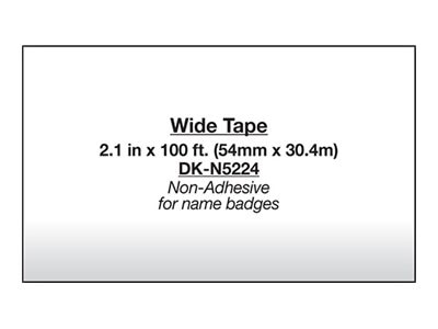 Brother 2.1 x 100' Non-Adhesive Continuous Paper Tape