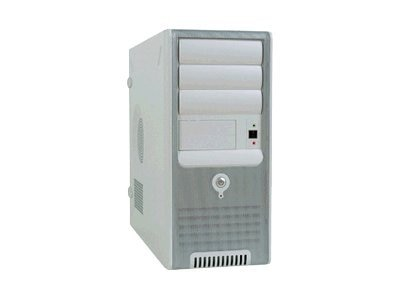 In-win Chassis, Mid-Tower, 8 Bays, ATX, 300W PS, Silver White, C583T.J300FU2AD, 6450871, Cases - Systems/Servers