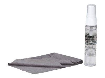 Manhattan LCD Cleaning Kit Solution & Cloth, Unscented, 423540, 16821364, Cleaning Supplies