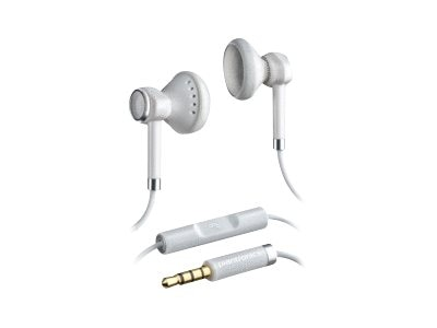 Plantronics Stereo Headphones with Mic, White, 86100-01, 14543049, Headsets (w/ microphone)