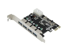 ACP-EP Quad Open USB 3.0 Port PCIe x1 Host Bus Adapter, ADD-PCIE-4USB30, 23203388, Host Bus Adapters (HBAs)