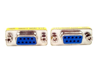 StarTech.com Slimline DB9 Female to DB9 Female Gender Changer (GC9SF), GC9SF, 464912, Adapters & Port Converters